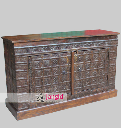 Indian Antique Reproduction Box Converted Sideboard
