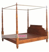 Wooden Four Poster Bedroom Double Bed
