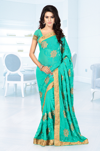 Ethnic Embroidered Sarees