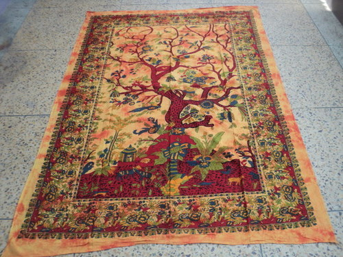TREE OF LIFE PRINTED BEDSHEETS TAPESTRY