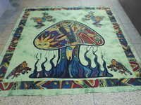 MAGIC MUSHROOM PRINTED TAPESTRY FROM INDIA