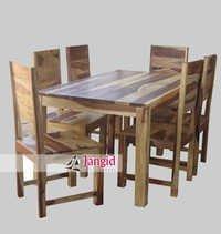 Indian Sheesham Wooden Dining Table Set