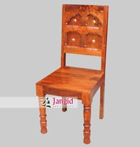 Mango Wooden Hand Carved Dining Room Chair