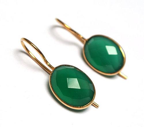 Green Onyx Gemstone Earring