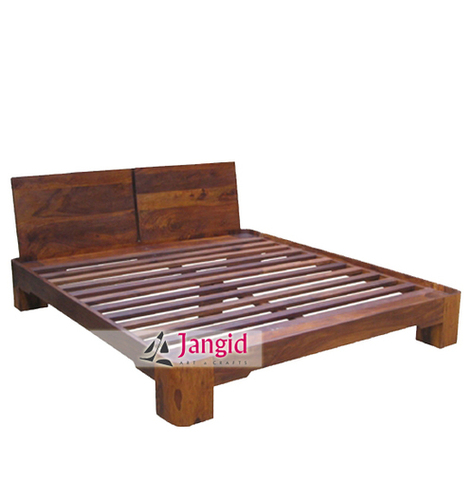Indian Sheesham Wooden Hotel Room Bed