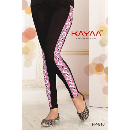 Black Lining Side Print Legging