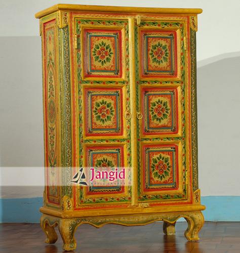 Indian Hand Painted Bedroom Almirah