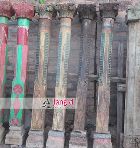 Indian Antique Hand Carved Architectural Pillars
