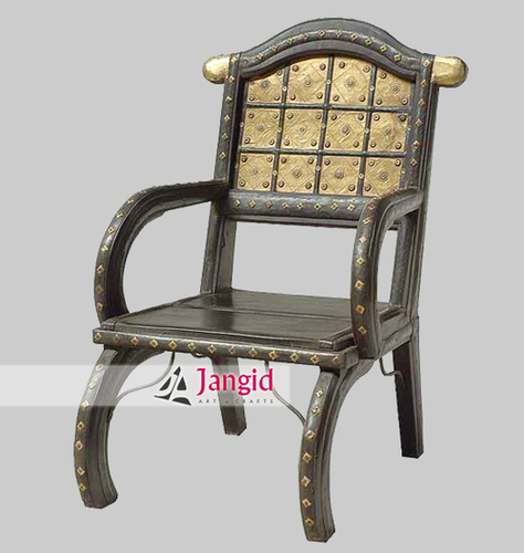 Traditional Indian Iron Fitted Cart Chair