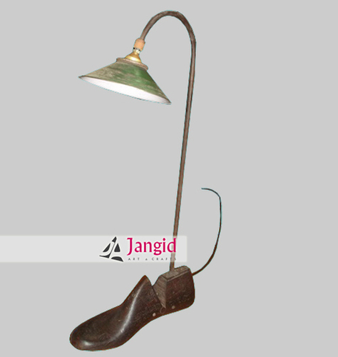 Indian Wooden Shoe Stand Table Lamp
