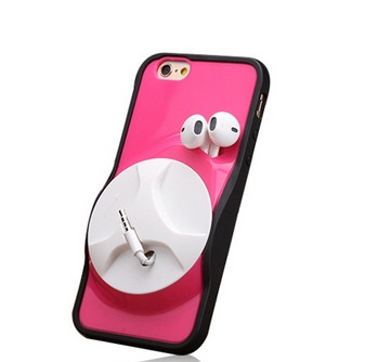 Samsung S4 Iphone4/5/6/6 plus Mobile phone Case with headphones