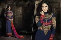 NEW ATTRACTIVE DESIGNER NAVY BLUE FULLSLEEVE STARIGHT SUIT