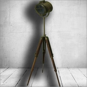 Antique Search Light Three Fold Stand