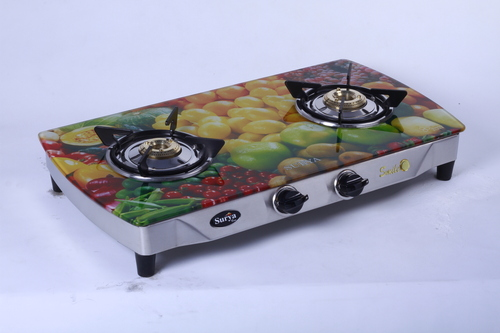 Two Burner Glass Gas Stove