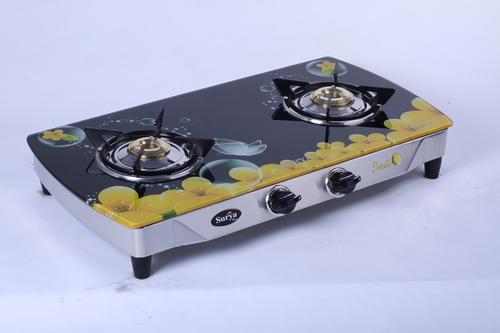 Digital Printed 2 Burner Glass Gas Stove