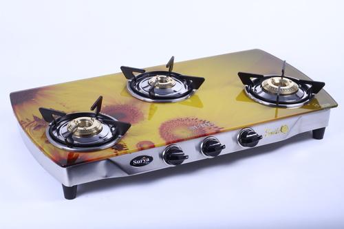 3 Burner Digital Printed Gas Stove