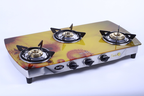 3 Burner Digital Printed Gas Stove