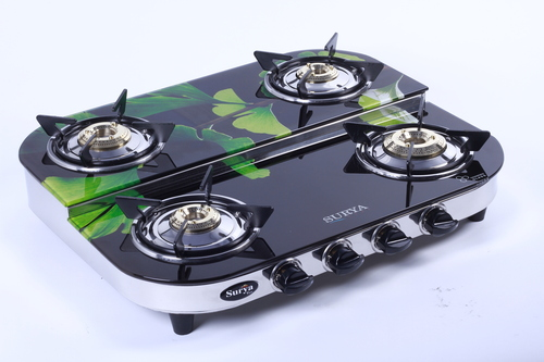 Four Burner Glass Gas Stove