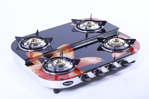 Four Burner Digital Printed Glass Gas Stove