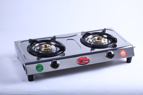 2 Stainless Steel LPG Gas Stove