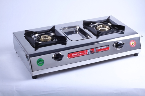 Two Burner Steel Stylish Gas Stove