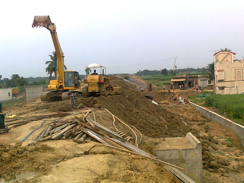 EARTH WORK at Railway Project sec.3.