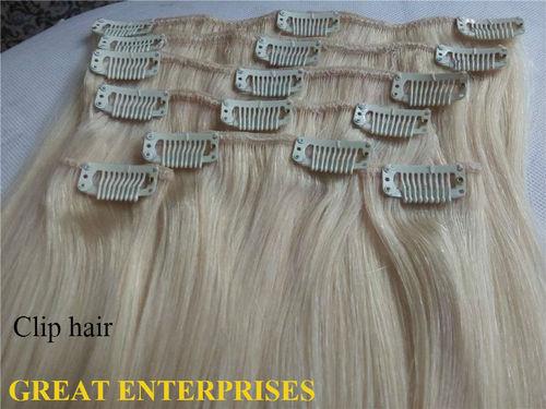 Blonde Clip Hair