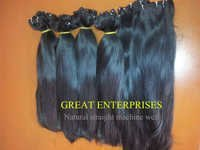 Natural Straight Machine Weft