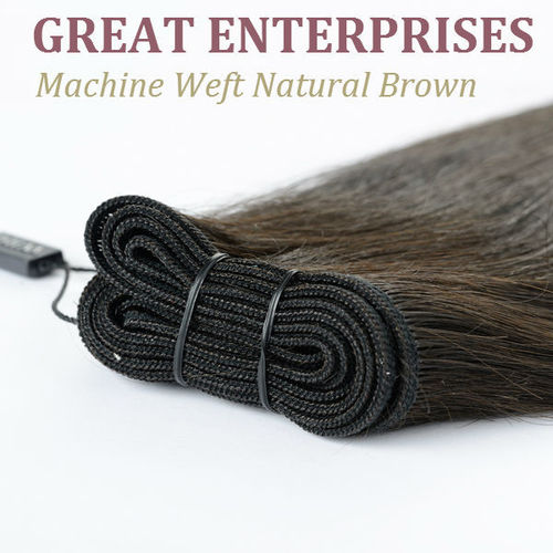 Machine Weft Natural Brown Hair