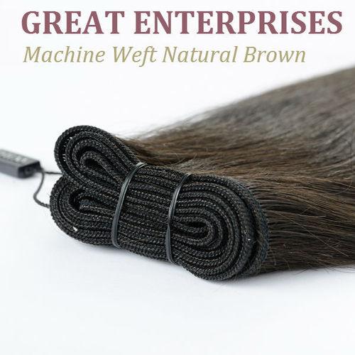 Machine Weft Natural Brown