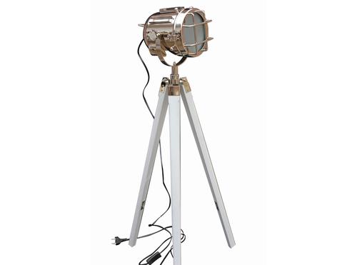 Designer Nautical Spot Searchlight Floor Lamp White Tripod