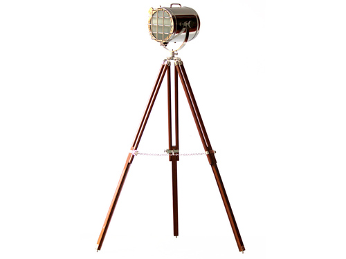 Designer Modern Floor Lamp Brown Tripod