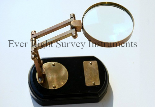 Magnifying Glass on Wooden Base
