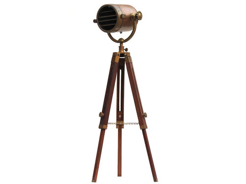 Antique Industrial Photography Studio Nautical Spotlight Tripod