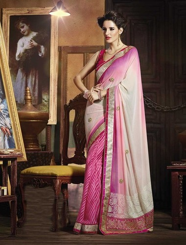ATTRACTIVE LIGHT PINK DESIGNER LERIYA SAREE