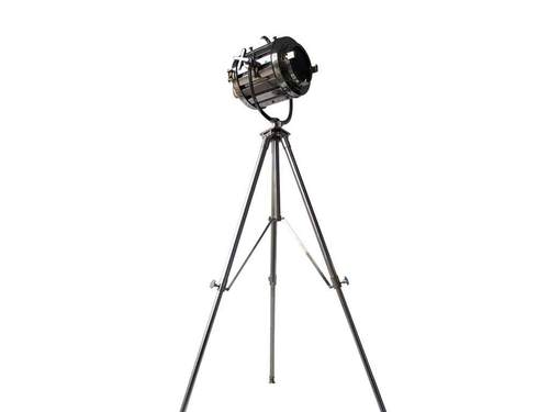 Nautical Marine Designer Searchlight Floor Lamp Focus Tripod Steel