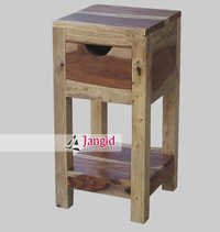 Solid Wooden Bedroom Bedside Table India