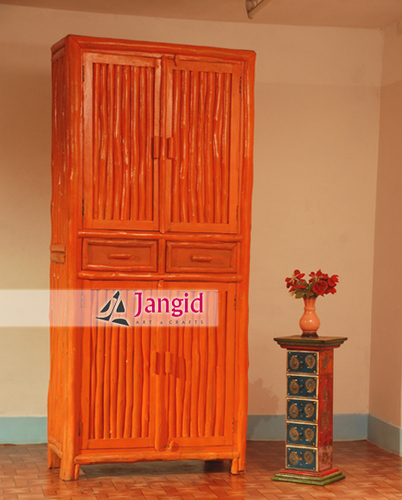 Solid Indian Wooden Bedroom Armoire