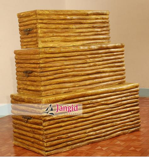 Solid Wooden Storage Box Set