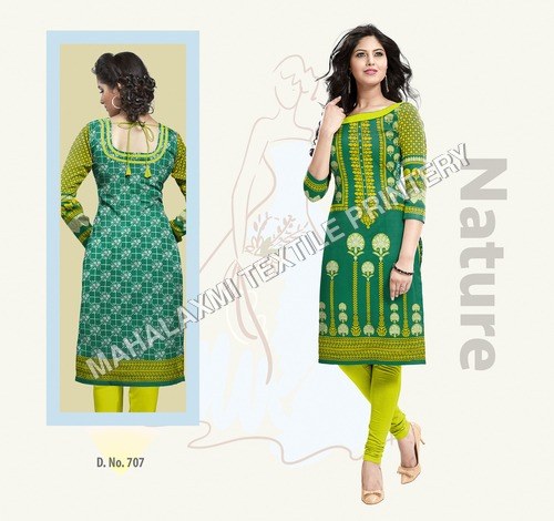 Green Cotton Kurtis