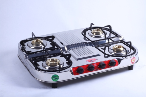 Four Burner Steel Gas Stove