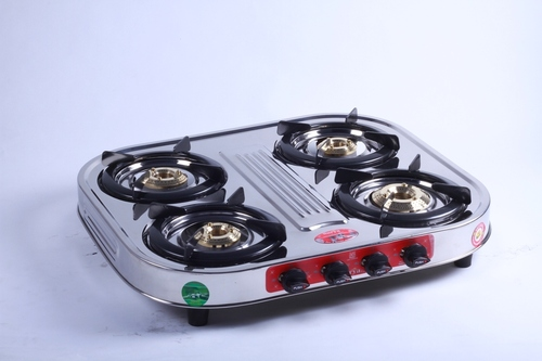 Four Burner Oval Steel Gas Stove