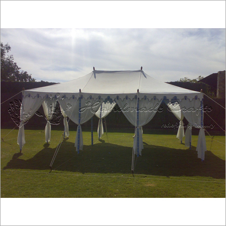 Draped Indian tent