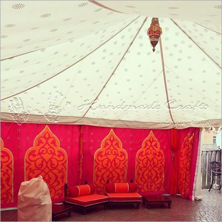 Interior Raj tent