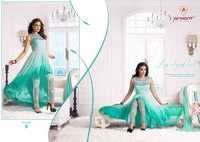 Fancy Skyblue Embroidered Bollywood Style Suit