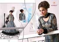 Fancy Bollywood Style Black Net Anarkali Suit