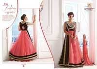 Fancy Designer Pink Viscose Net Embroidered Suit
