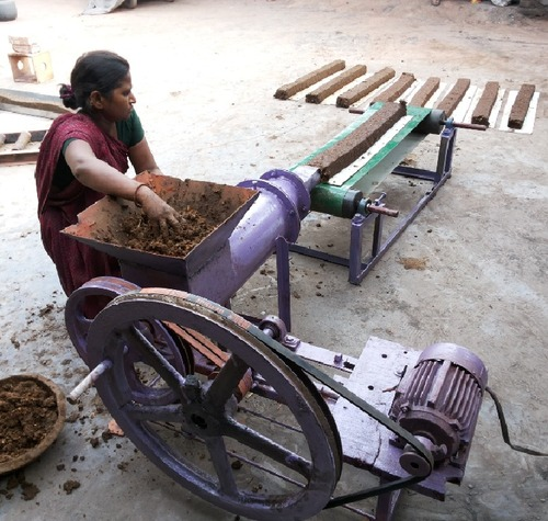 Innovative machine for making cow dung logs for ecofriendly cremation