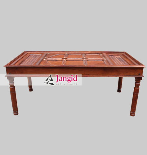 Wooden Hand Carved Dining Table India
