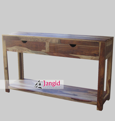Natural Indian Wooden  Console Table